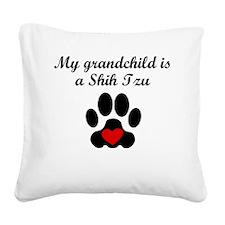 Shih Tzu Grandchild Square Canvas Pillow