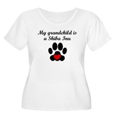 Shiba Inu Grandchild Plus Size T-Shirt