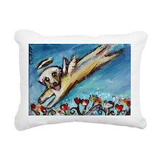 Yellow Labrador angel flys free Rectangular Canvas