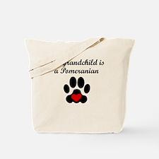 Pomeranian Grandchild Tote Bag