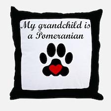 Pomeranian Grandchild Throw Pillow
