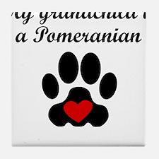 Pomeranian Grandchild Tile Coaster