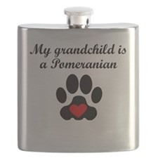 Pomeranian Grandchild Flask