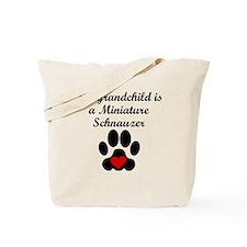 Miniature Schnauzer Grandchild Tote Bag