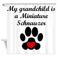 Miniature Schnauzer Grandchild Shower Curtain