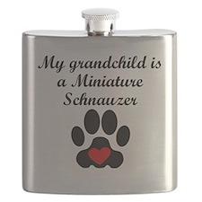 Miniature Schnauzer Grandchild Flask