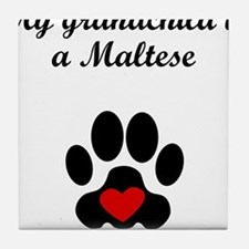 Maltese Grandchild Tile Coaster
