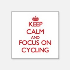Keep calm and focus on Cycling Sticker