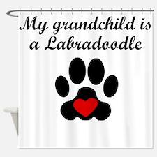 Labradoodle Grandchild Shower Curtain