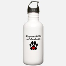 Labradoodle Grandchild Water Bottle
