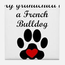 French Bulldog Grandchild Tile Coaster