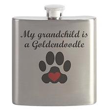 Goldendoodle Grandchild Flask