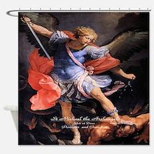 Saint Michael the Archangel Quis ut Deus Shower Cu
