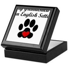 English Setter Grandchild Keepsake Box