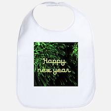 happy new year green Bib