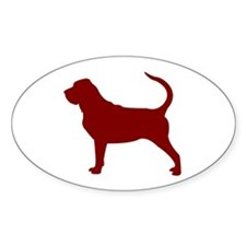 Just Bloodhound (Red) Oval Decal
