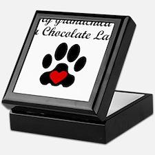 Chocolate Lab Grandchild Keepsake Box