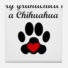 Chihuahua Grandchild Tile Coaster