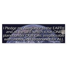 Earth Pledge Bumper Bumper Sticker