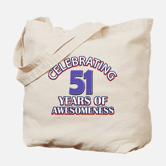 Celebrating 51 years of awesomeness Tote Bag