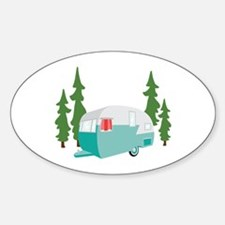 Camper Scene Bumper Stickers