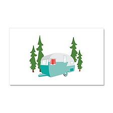 Camper Scene Car Magnet 20 x 12