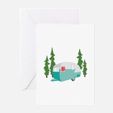Camper Scene Greeting Cards