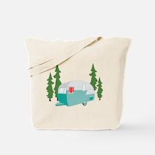 Camper Scene Tote Bag