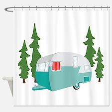 Camper Scene Shower Curtain