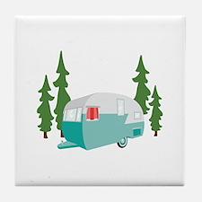 Camper Scene Tile Coaster