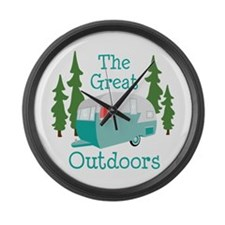 The Great Outdoors Large Wall Clock