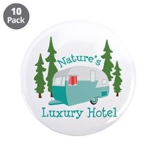 "Natures Luxury Hotel 3.5"" Button (10 pack)"