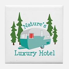 Natures Luxury Hotel Tile Coaster