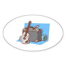 acoustic guitar suitcase blue Decal