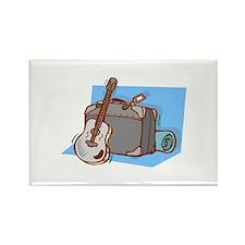 acoustic guitar suitcase blue Magnets