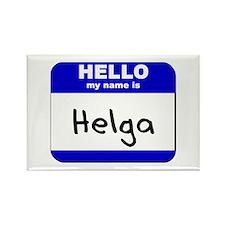 hello my name is helga Rectangle Magnet