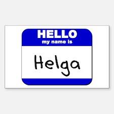 hello my name is helga Rectangle Decal