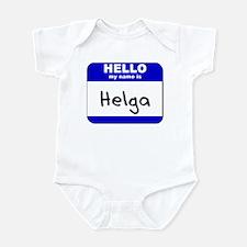 hello my name is helga  Infant Bodysuit