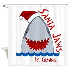 Santa Jaws Shower Curtain