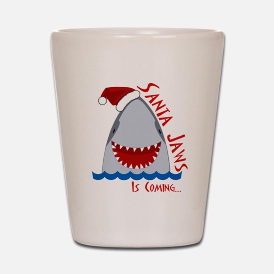 Santa Jaws Shot Glass