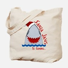 Santa Jaws Tote Bag