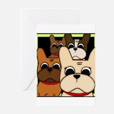 Frenchie Clan Greeting Cards (Pk of 10)