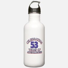 Celebrating 53 years of awesomeness Water Bottle