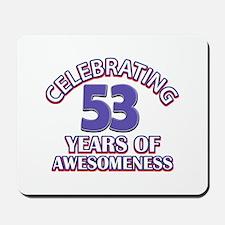 Celebrating 53 years of awesomeness Mousepad