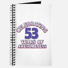 Celebrating 53 years of awesomeness Journal