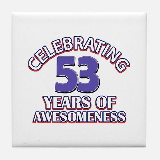 Celebrating 53 years of awesomeness Tile Coaster