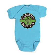 Vegan For the Health of It Baby Bodysuit