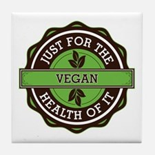 Vegan For the Health of It Tile Coaster