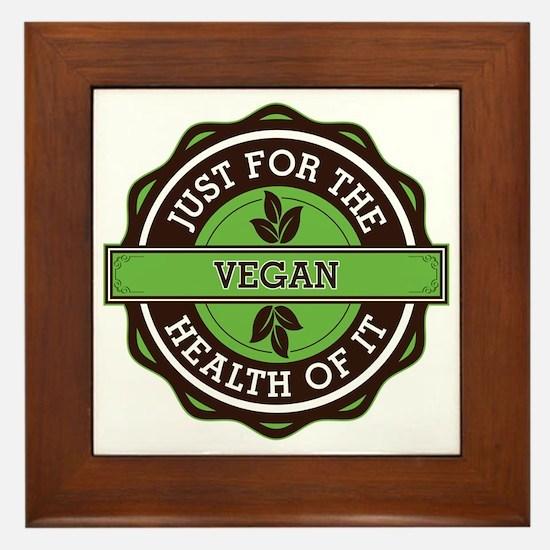 Vegan For the Health of It Framed Tile