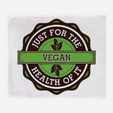 Vegan For the Health of It Throw Blanket